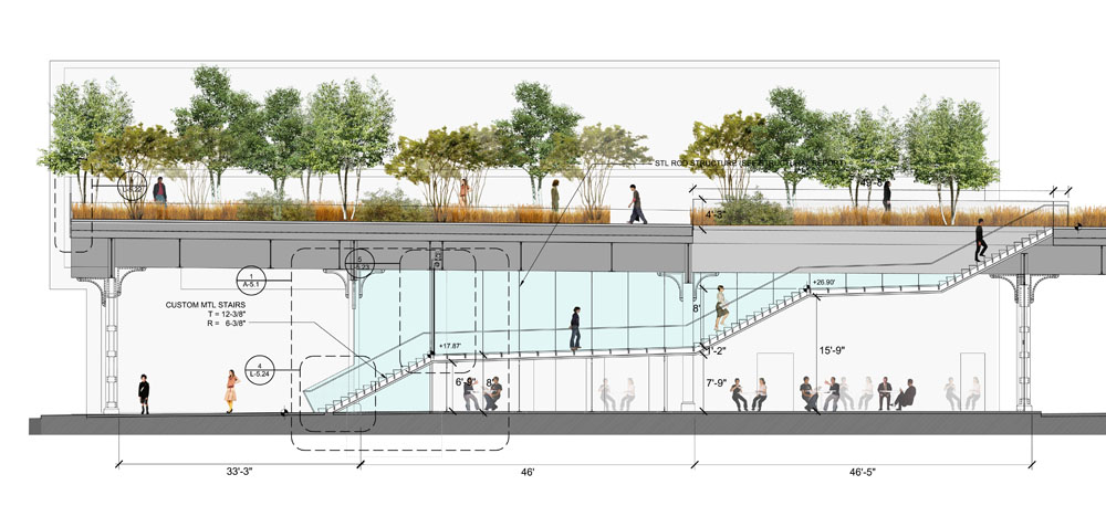 Designing The High Line Part 2 Gansevoort Plaza And Stair