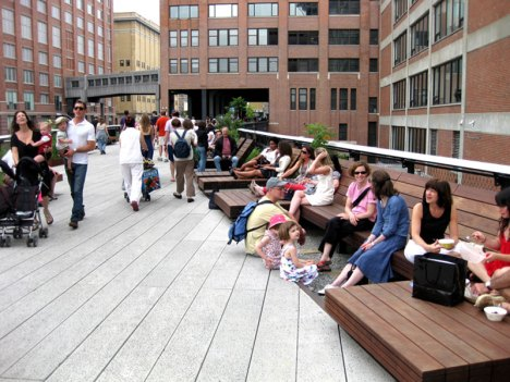 The Sundeck's lounge chairs are a popular spot for resting and people-watching.